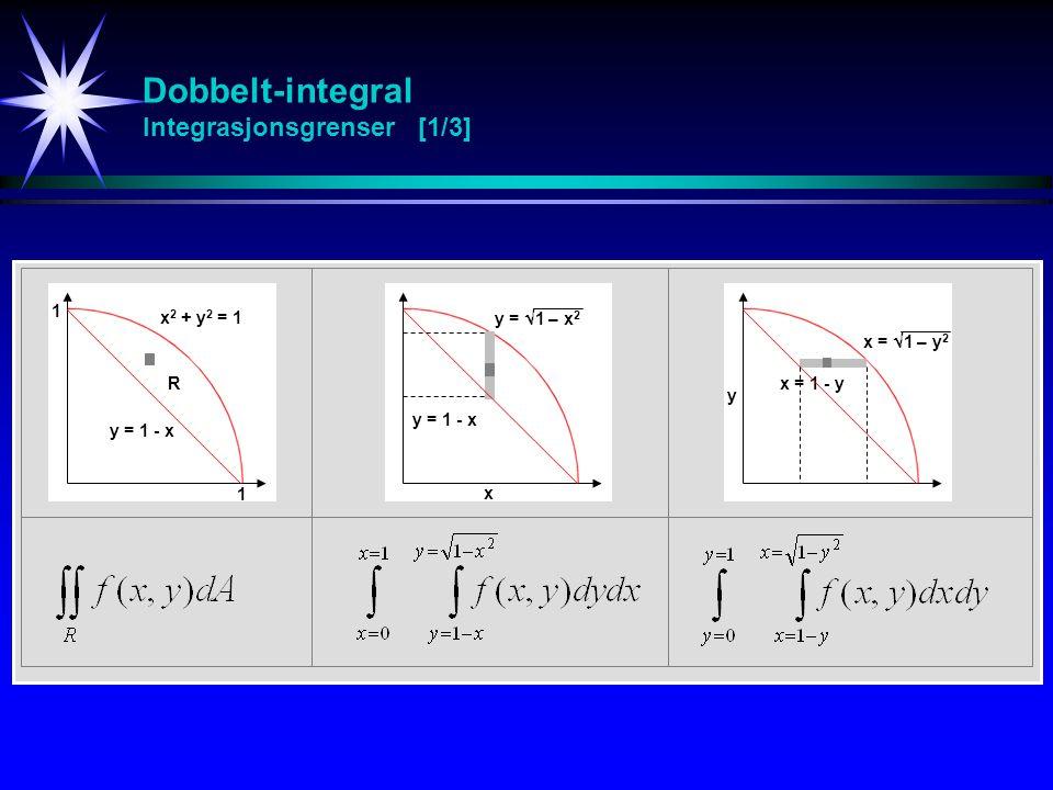 Dobbelt-integral Integrasjonsgrenser [1/3]